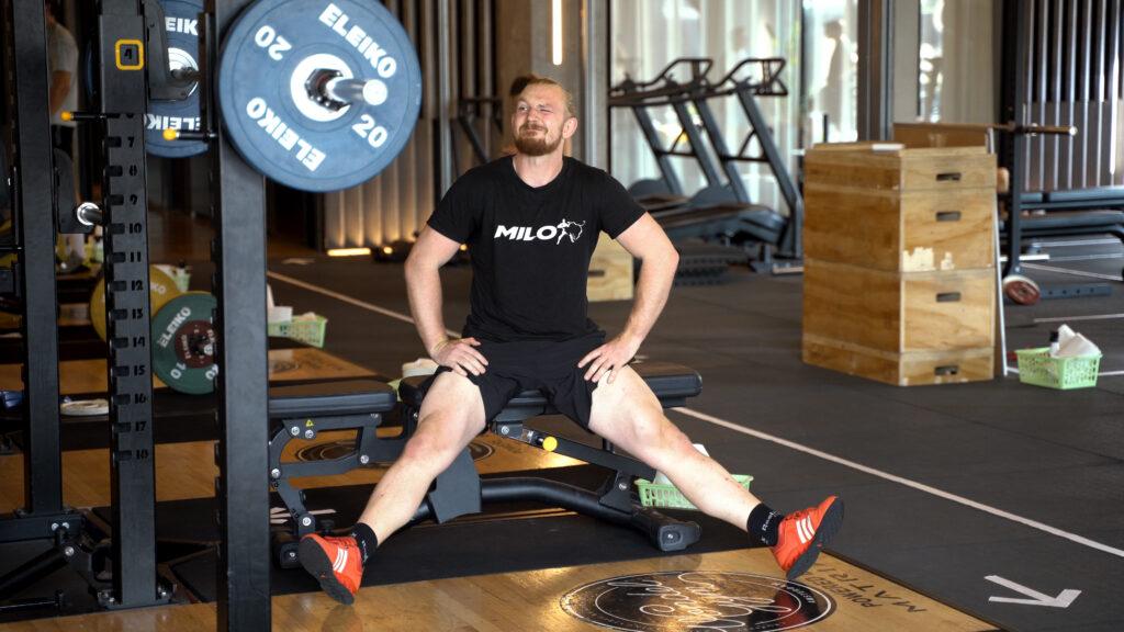 Foto spierpijn tijdens het trainen